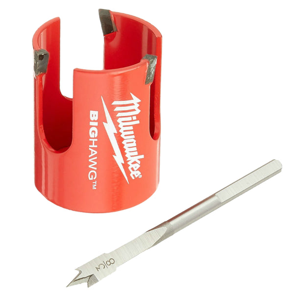 Milwaukee® 49-56-9120 Big Hawg® Wood Cutting Hole Cutter with Pilot Bit, 2-1/8""
