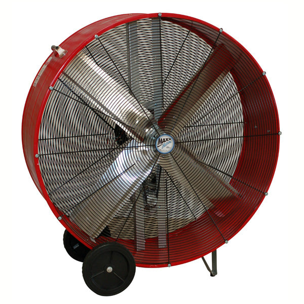 MaxxAir™ BF48BDRED Belt Drive Barrel Fan with 2-Speed Motor, 48""