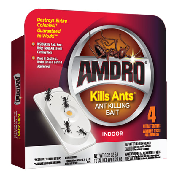 Amdro® 100522408 Indoor Ant Control Bait Station, 4-Pack