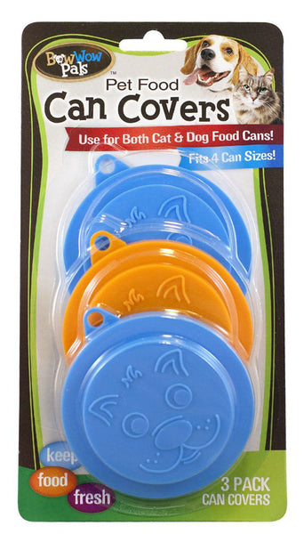 Bow Wow Pals™ 8813 Pet Food Can Covers, Assorted Colors, 3-Pack