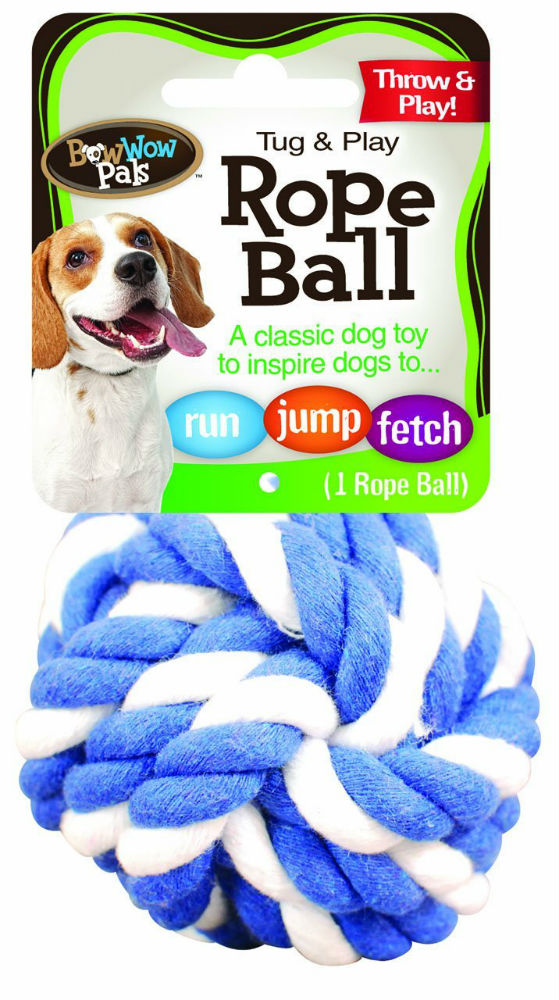 Bow Wow Pals™ 8854 Tug & Play Nylon Rope Ball Dog Toy