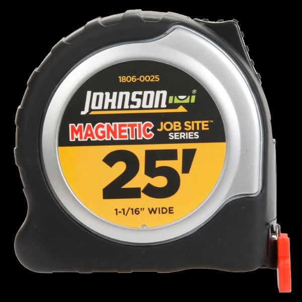 Johnson Level 1806-0025 Job Site™ Magnetic Power Tape Measure, 25' x 1-1/16""