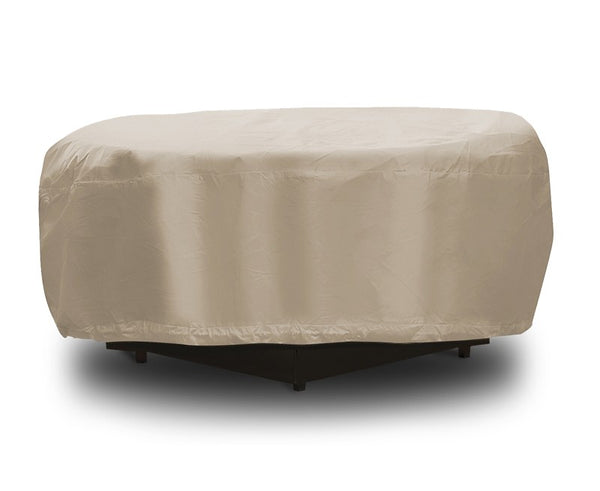 "Protective Covers 1199-TN Backyard Patio Firepit Cover, 48"" Dia x 8"", Vinyl, Tan"