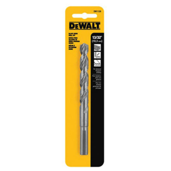 DeWalt® DW1126 Black Oxide 135-Degree Split Point Drill Bit, 13/32""