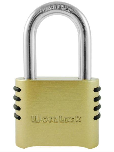"WordLock® PL-106-SS Brass Utility Lock with 1.5"" Brass Shackle"