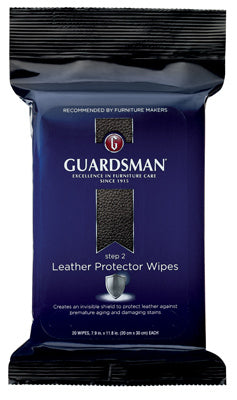 Guardsman 470600 Step 2 Leather Protector Wipes, 20-Count