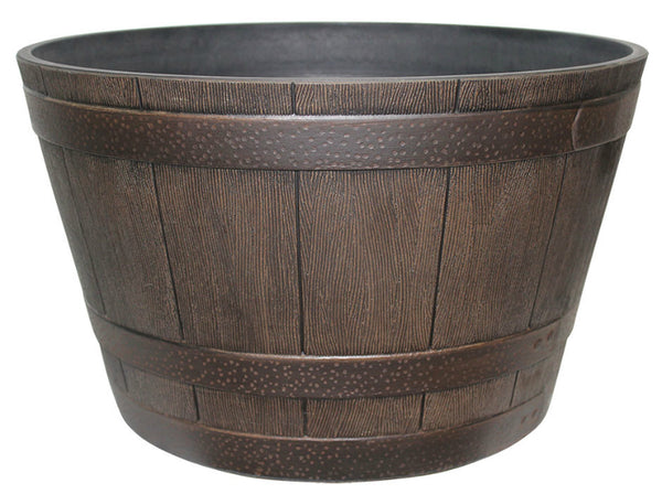 Southern Patio HDR-001225 High Density Resin Whiskey Barrel Planter, 20.5""