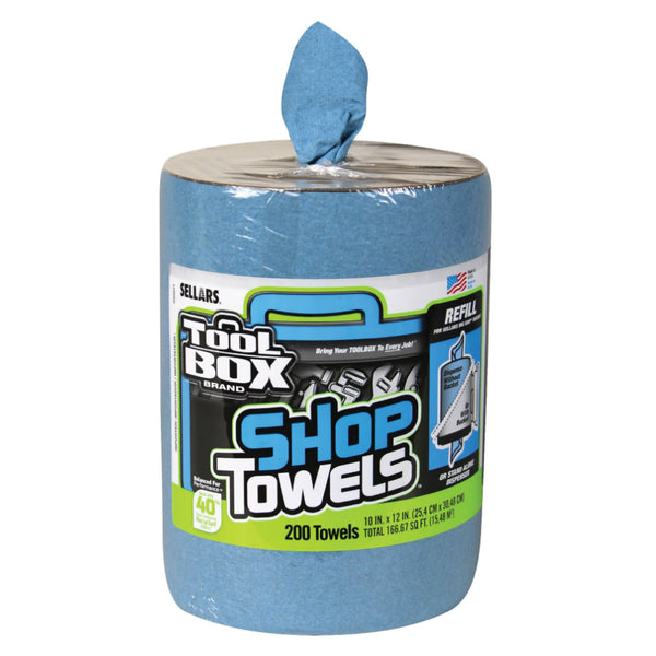 "ToolBox 5520701 Big Grip Z400 Bucket Blue Shop Towel Refills, 10""x12"", 200-Count"