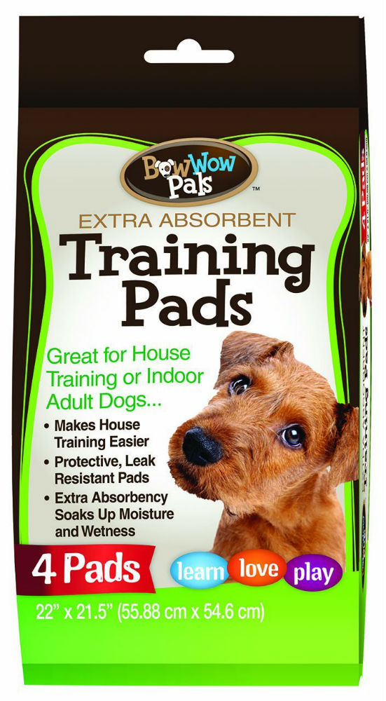 "Bow Wow Pals™ 8851 Extra Absorbent Puppy Training Pads,  22"" x 21.5"", 4-Pack"