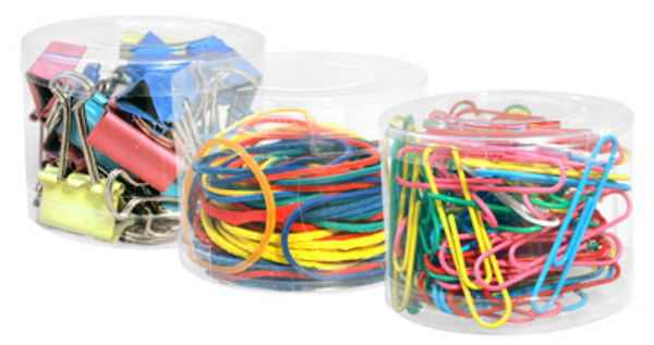 Creative Options™ 9165 Binder/Paper Clips & Rubber Bands, Assorted Colors