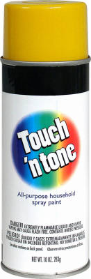 Touch N' Tone 55272830 Multi-Purpose Spray Paint, 10 oz Canary Yellow