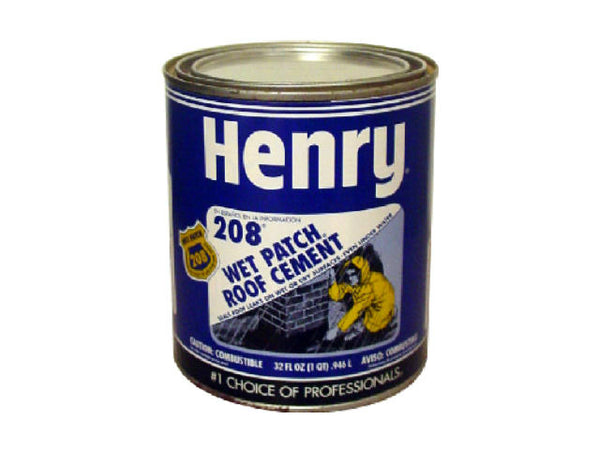 Henry® Company HE208030 Wet Patch® Roof Cement, 1 Qt