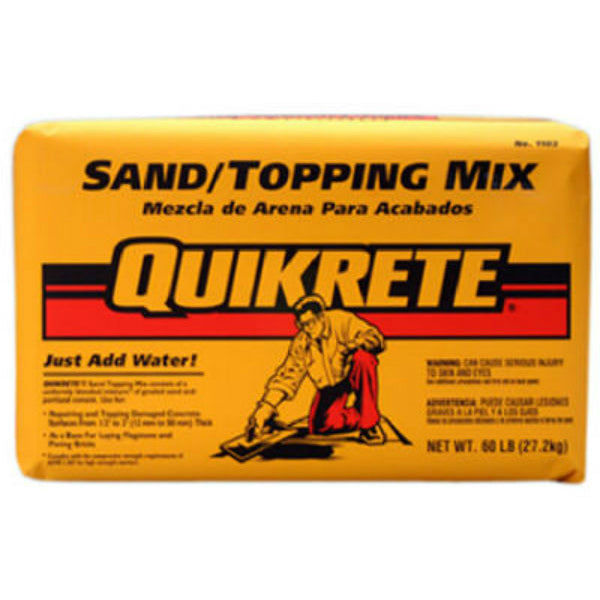 Quikrete® 110360 Sand/Topping Mix, 60 Lbs