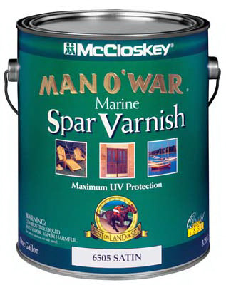 Man O 'War 6505-07 Spar Varnish 1 Gallon, Satin