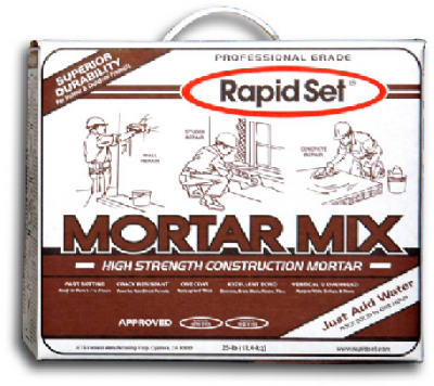 Rapid Set 10M25 Mortar Mix, 25 Lbs