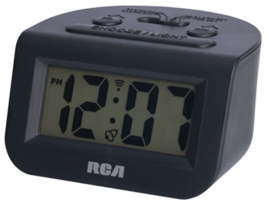 RCA RCD10 Digital Alarm Clock with Snooze Function, Blue Backlight