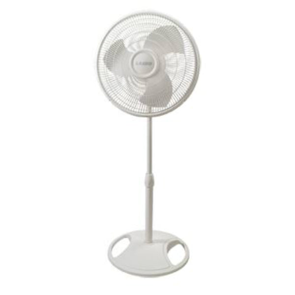 Lasko® 2520 Oscillating Stand Fan with 3 Quiet Speeds, White, 16""