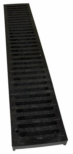 NDS 243-1 Speed Channel Drain Grate, 2', Black