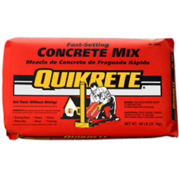 Quikrete® 100450 Fast-Setting Concrete Mix, 50 Lbs