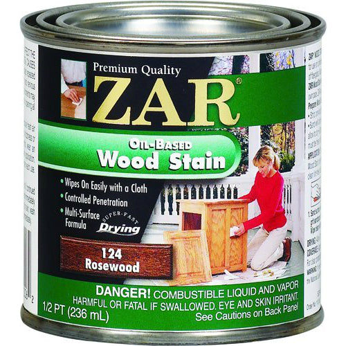 ZAR® 12406 Interior Oil-Based Wood Stain, Rosewood, 1/2 Pint