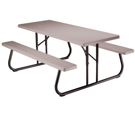 Lifetime 2119 Folding Picnic Table 6', Putty