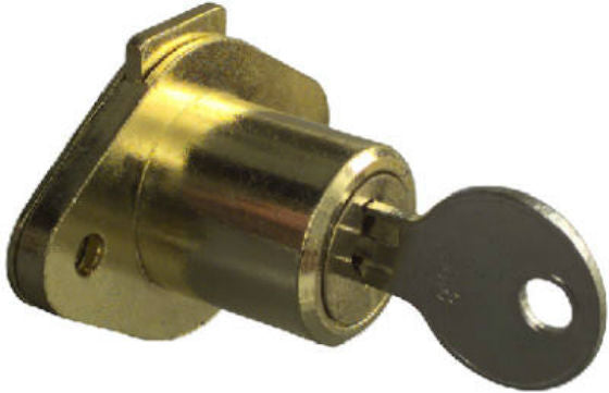 National Hardware® N183-772 Brass Keyed Drawer Lock, Steel