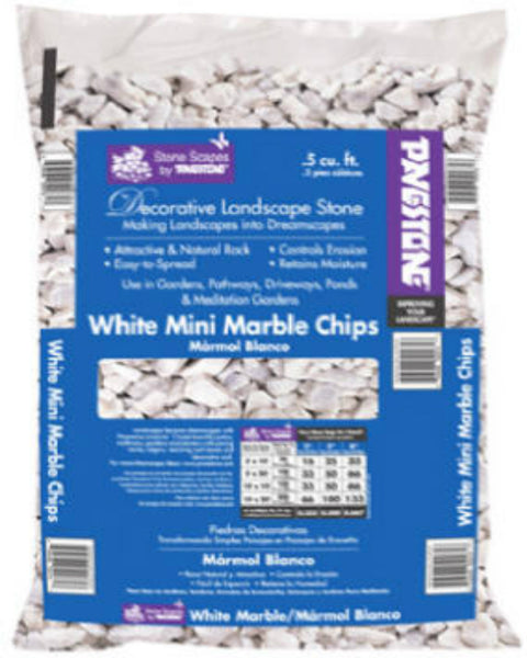 Pavestone® 54141 White Mini Marble Chips Decorative Landscape Stone, 0.5 Cu.Ft.