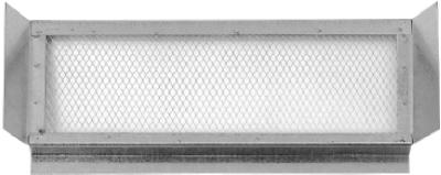 "Construction Metals EV145 Galvanized Eave Vent, 14"" x 5"""