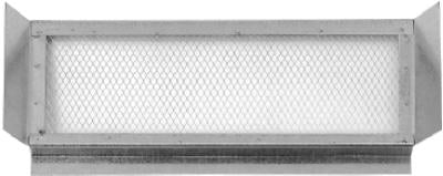 "Construction Metals EV223 Galvanized Eave Vent, 22"" x 3"""