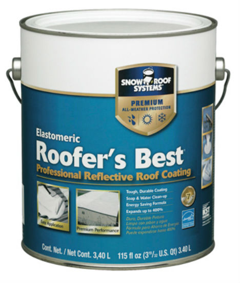 Snow Roof® RB-1 Roofers Best® Professional Grade Roof Coating, 1 Gallon
