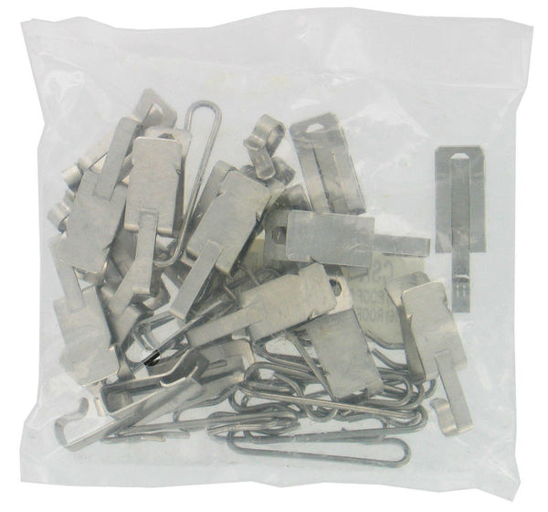 Easy Heat® CSK-12 Roof & Gutter De-Icing Cable Clips & Spacers, Silver, 35-Piece
