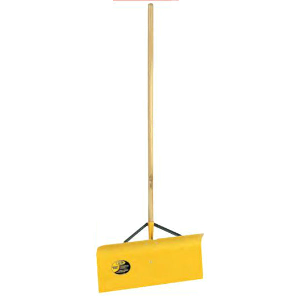 "Yo-Ho® 04040 Spring Steel Braced Snow Pusher, 12"" x 24"" Blade"