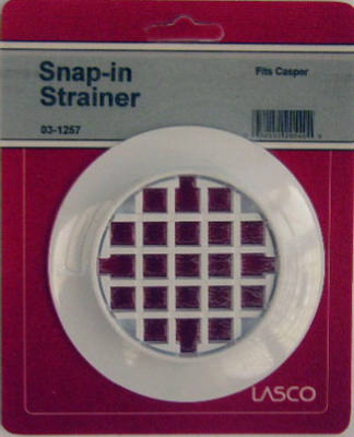 Lasco 03 1257 Casper Snap In Shower Drain Strainer