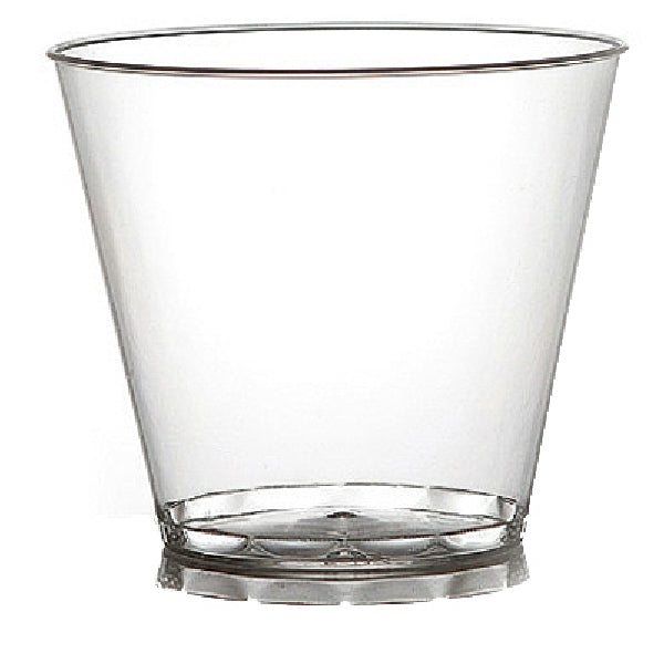 Table-Mate 409 Clear Plastic Cocktail Glass, 9 Oz, 20-Count