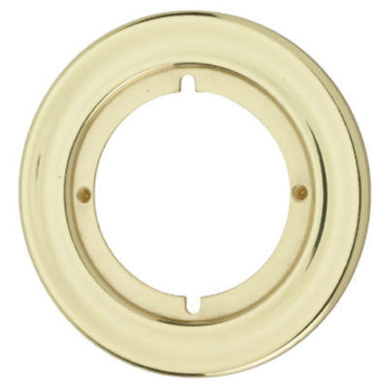 Kwikset® 293-3-CP Round Trim Rosette, Polished Brass