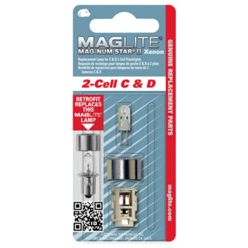 Maglite LMXA201 Magnum Star II Xenon Replacement Lamp for C & D 2-Cell Flashlight