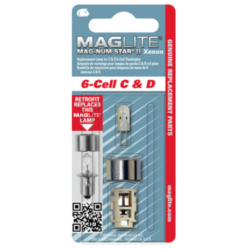 Maglite LMXA601 Magnum Star II Xenon Replacement Lamp for C & D 6-Cell Flashlight