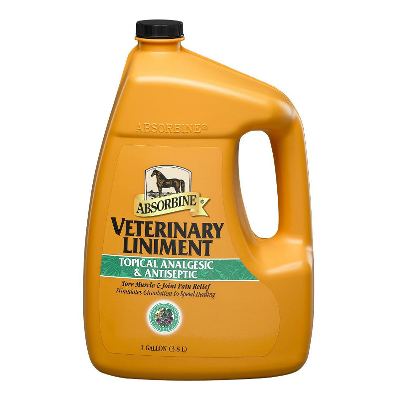 Absorbine® 427862 Veterinary Topical Analgesic/Antiseptic Horse Liniment, 1 Gal