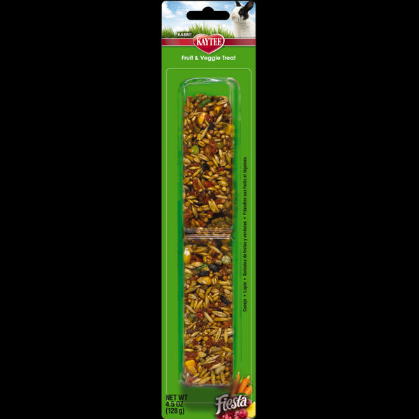 Kaytee® 100502609 Fiesta Fruit and Veggie Treat Stick for Rabbits, 4.5 Oz