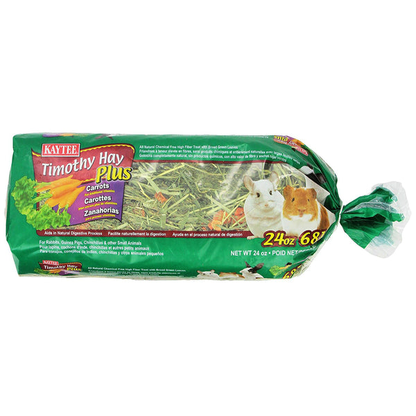 Kaytee® 100502648 Timothy Hay Plus Carrots Treat for Small Animals, 24 Oz