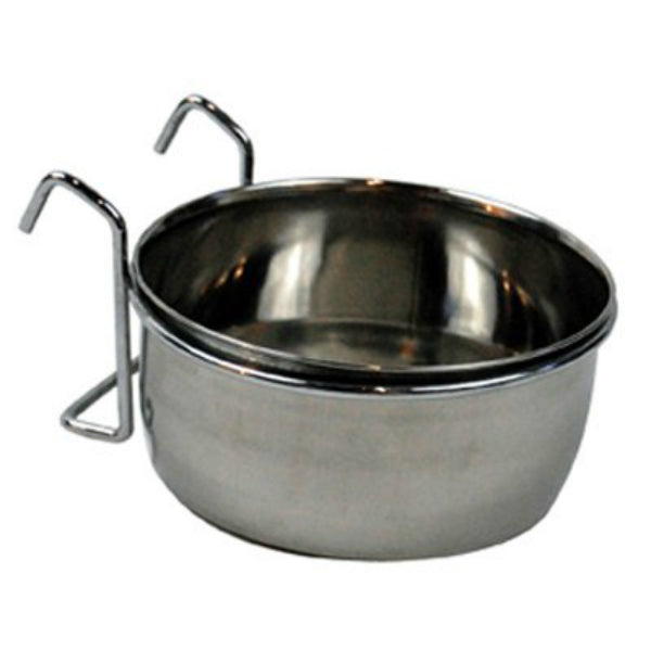 Bergan® 90447 Stainless Steel Kennel Bowl for Dogs, 1-Cup
