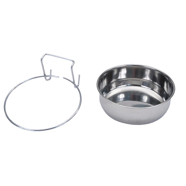 Bergan® 90448 Stainless Steel Kennel Bowl for Dogs, 3-Cup