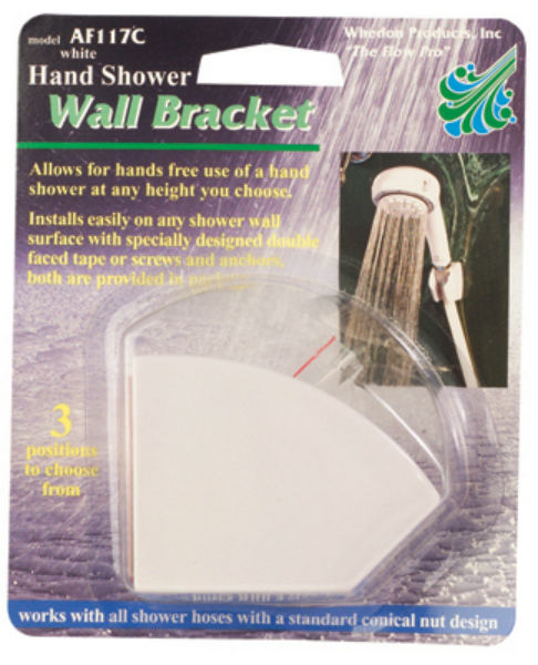 Whedon AF117C Hand Shower Wall Bracket, 3-Position, White