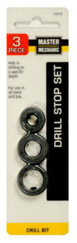 Master Mechanic 159135 Drill Stop Set, 3-Piece