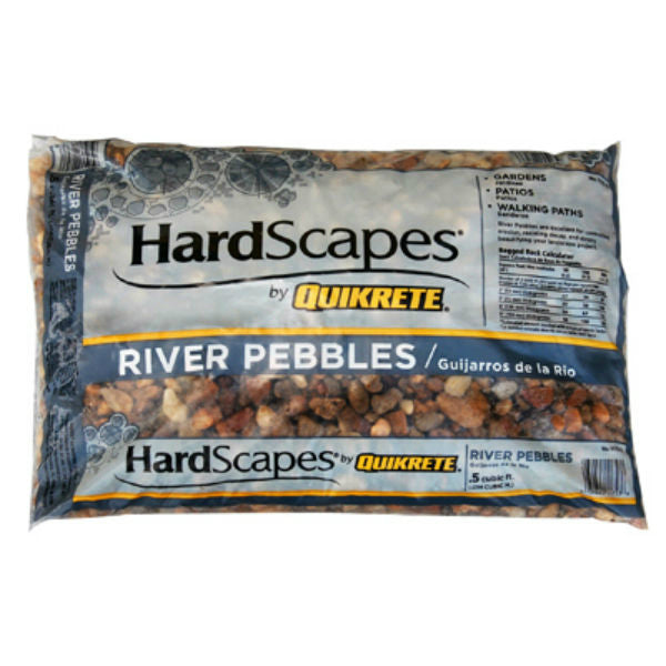 Quikrete® 1175-15 HardScapes® River Pebbles, 0.5 Cu.Ft