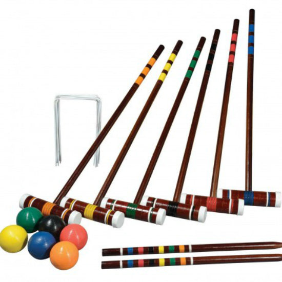 Franklin 50201 Intermediate 6-Player Croquet Set