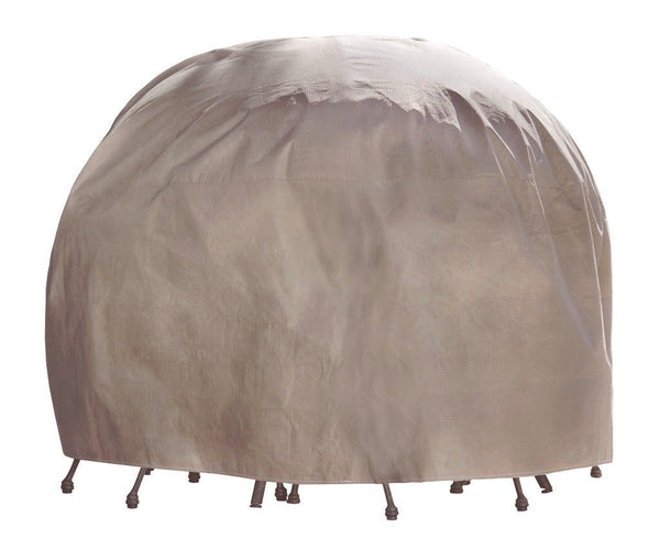 Duck Covers MTR09090 Patio Round Table & Chair Cover,Duck Dome Airbag,Cappuccino