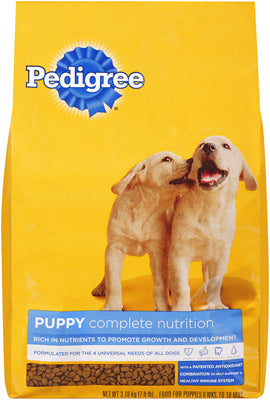 Pedigree 10100495 Puppy Complete Nutrition Dry Food, 7 lb