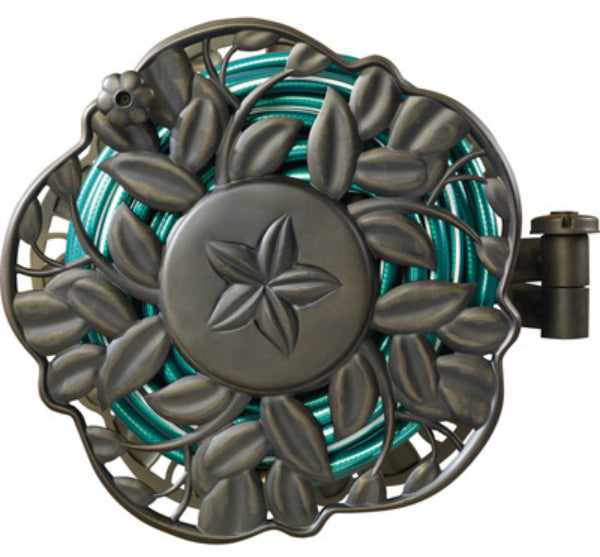 Ames® 2397200 Decorative Wall Mount Hose Reel With Swivel Feature, 100'