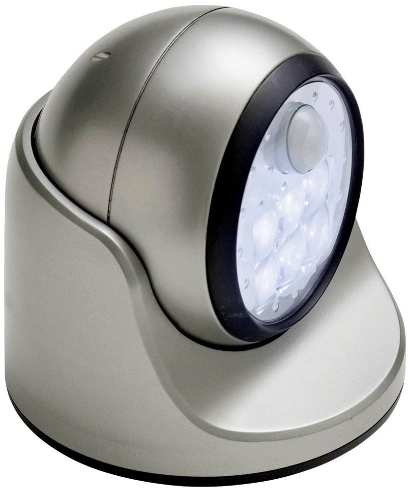 Fulcrum 20031-101 Light It!™ Wireless Motion-Activated 6-LED Porch Light, Silver